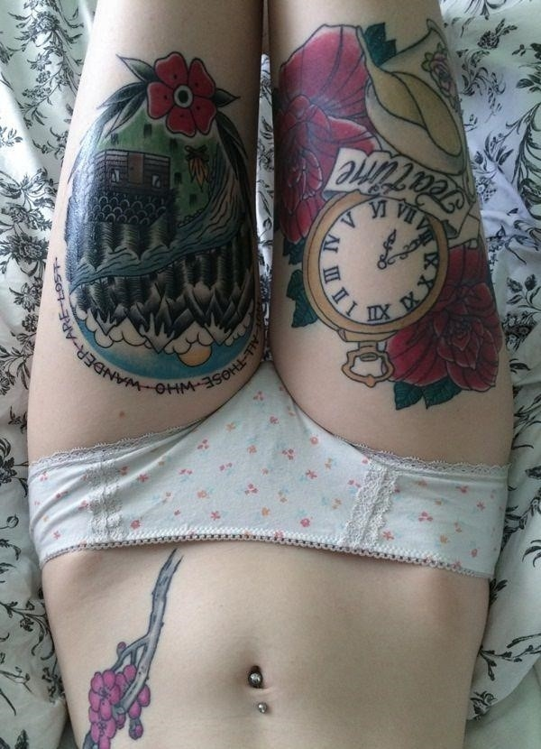 Attractive leg tattoos for women 1