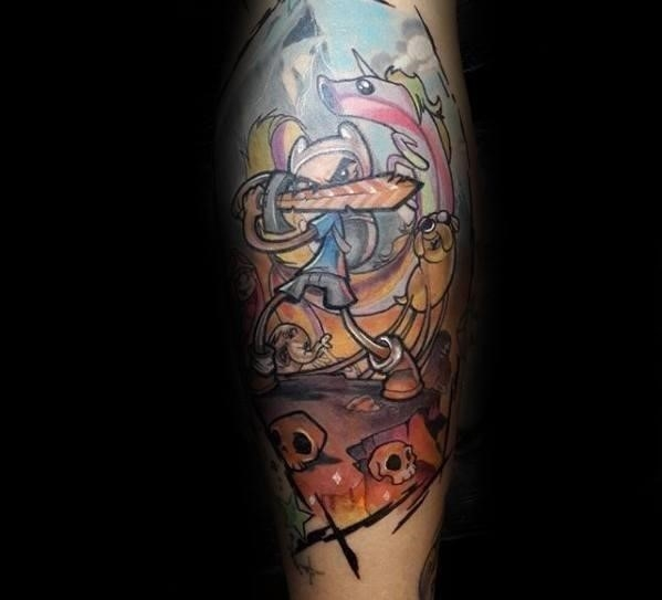 Awesome adventure time tattoos for men