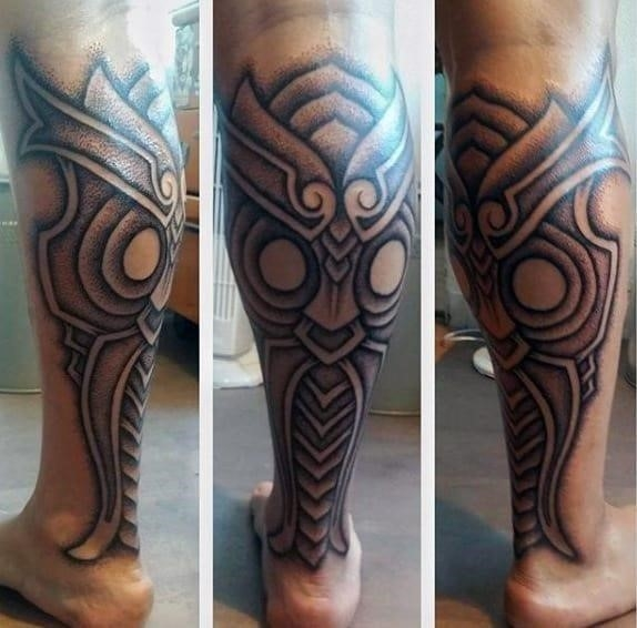 Awesome calf tattoos for men