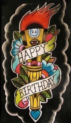 B941f2d14f029632809134b740d44736  happy birthday tattoo birthday wishes