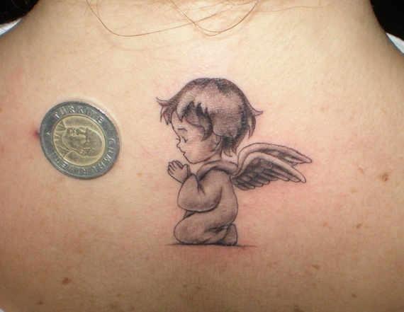 Baby angel tattoos 27