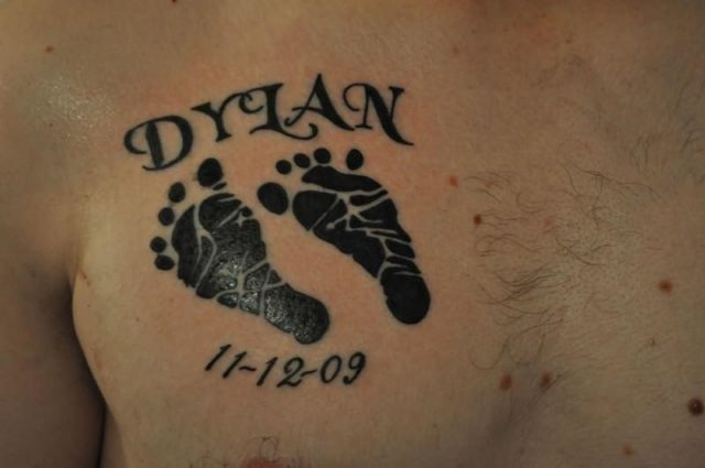 Baby footprint tattoos 32