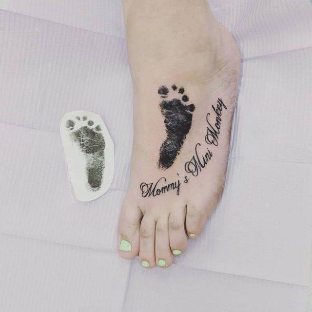 Baby footprint tattoos inkme1