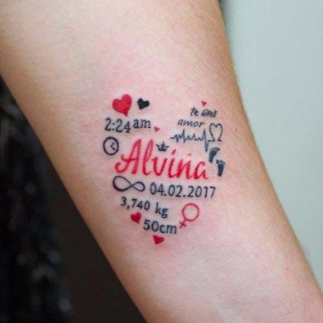 Baby tattoo ideas popsugar moms 2