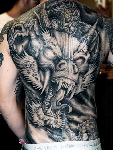 Back of neck tattoos for men