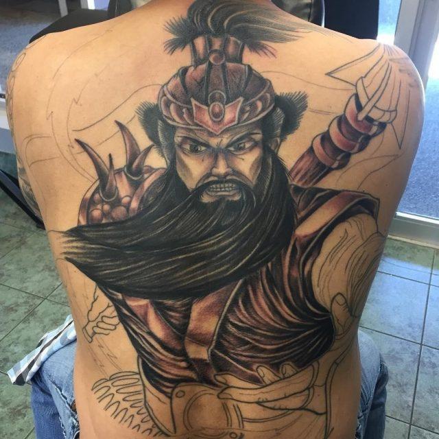 Back tattoo 39