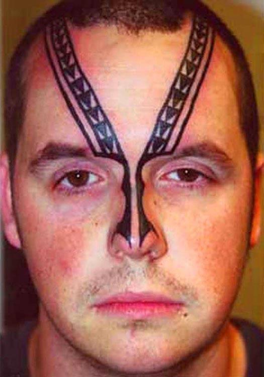 Bad face tattoo zipper