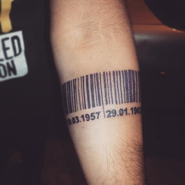 Barcode tattoo 5