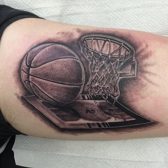 Basketball tattoo 131