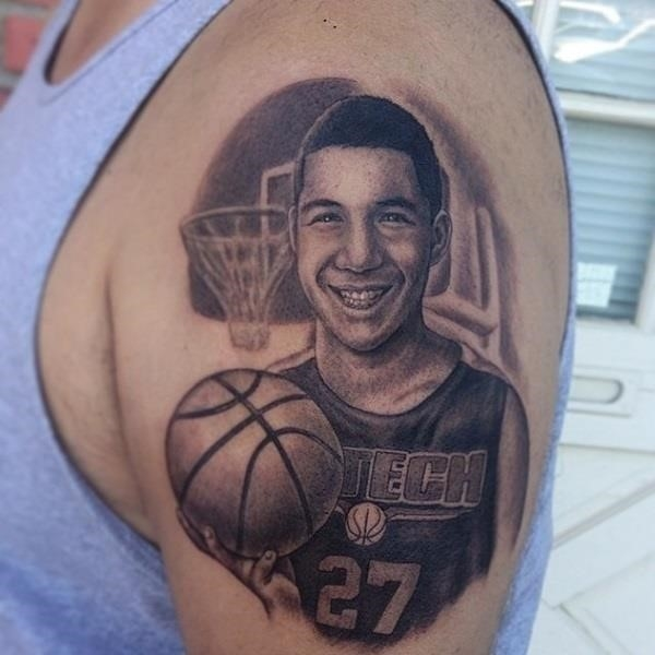 Basketball tattoo Designs and Ideas For Men 17