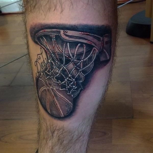 Basketball tattoo Designs and Ideas For Men 32