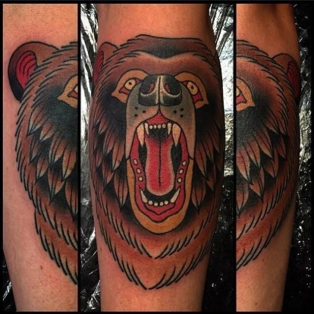 Bear tattoo 16 650×650