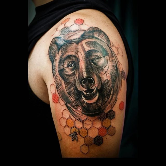 Bear tattoo 2