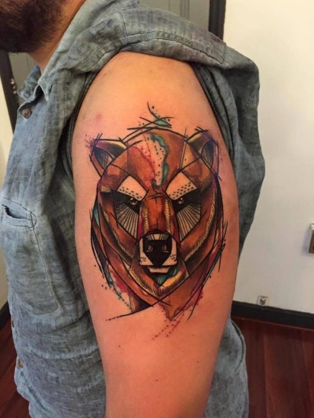 Bear tattoo image