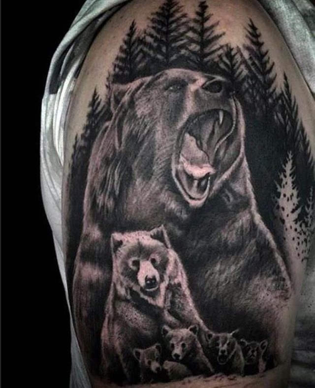 Bear tattoos 26011950