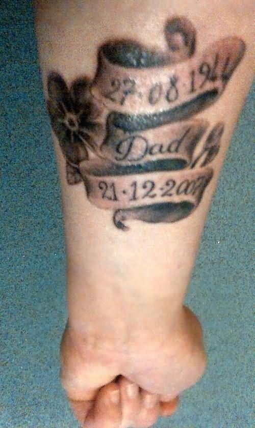 Beautiful left forearm memorial dad tattoo