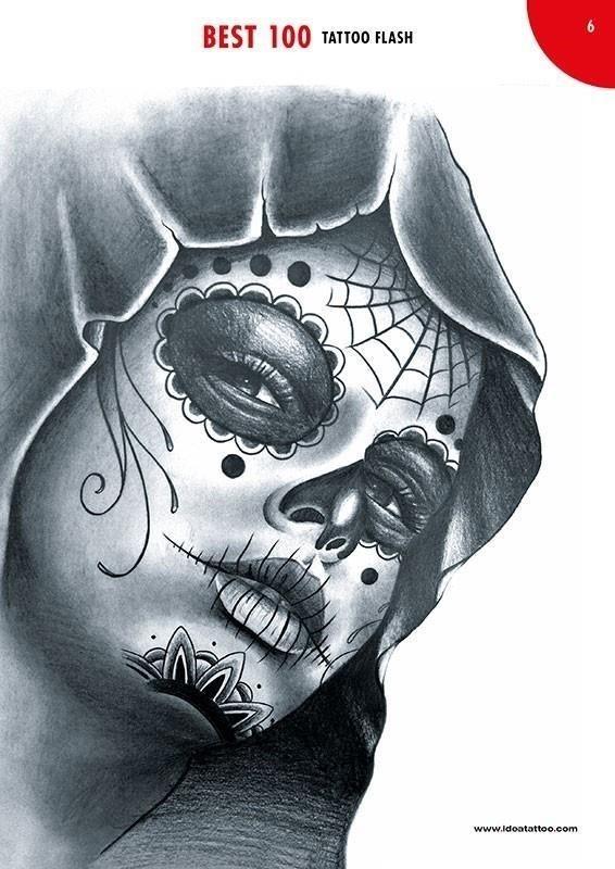 Best 100 tattoo flash 01 catrina