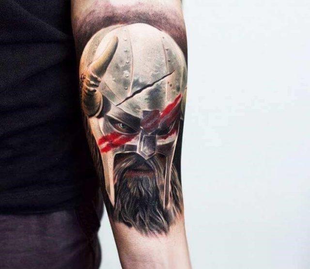 Best 78 warrior tattoos   007