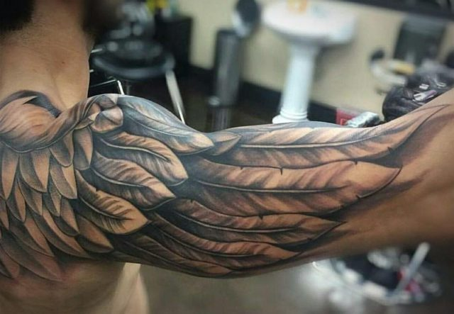 Best wing tattoos for men