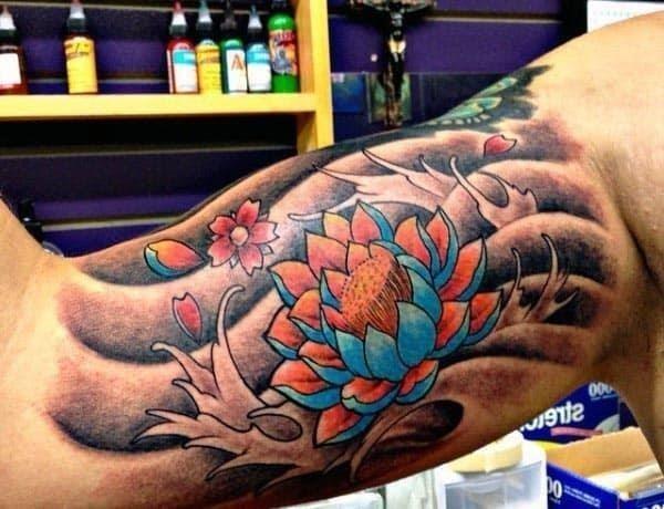 Bicep tattoos for men