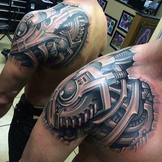 Bionic mens tattoos