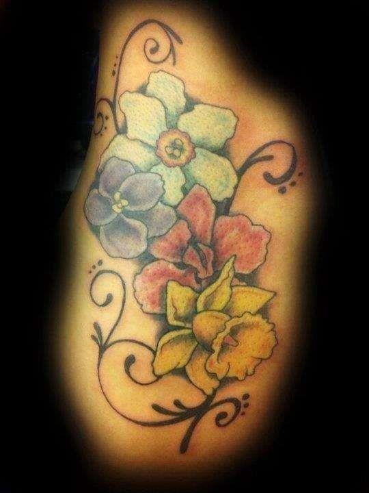 Birth flowers tattoo 131675