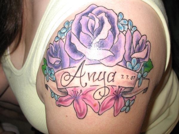 Birth month flower tattoos1
