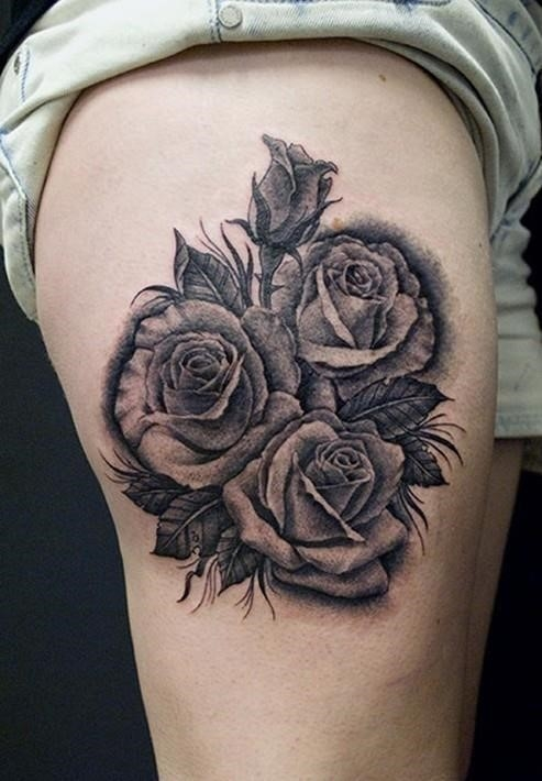 Black and grey tattoo style5