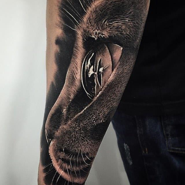 Black cat tattoo1