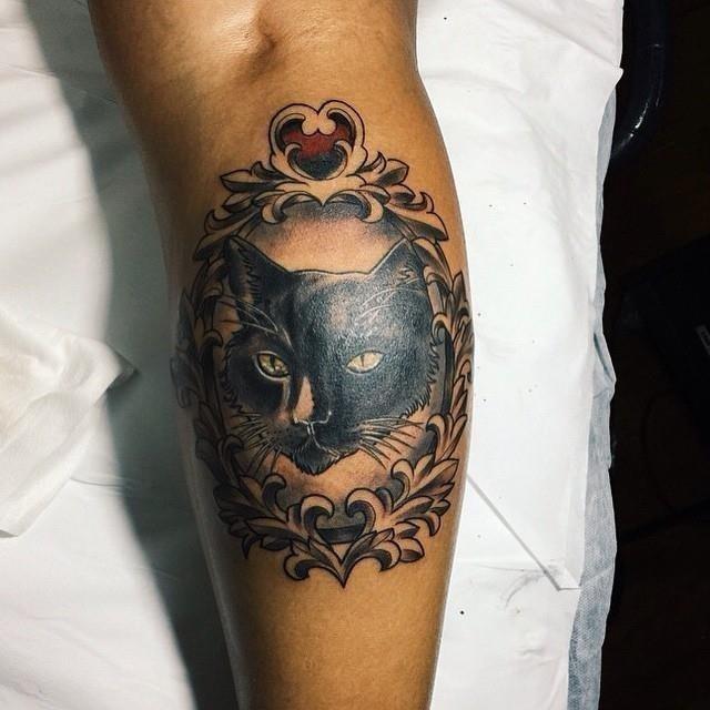 Black cat tattoo35