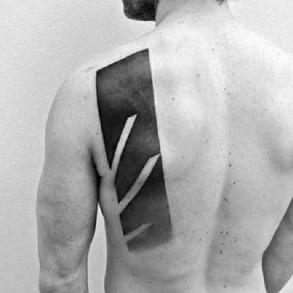 Blackwork minimalist guys abstract back tattoo designs