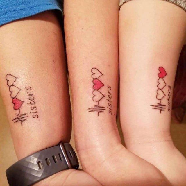 Blood bond family sister tattoo live love lash and esthetics