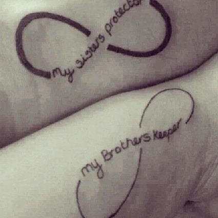 Brother and sister tattoo idea
