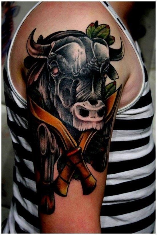 Bull tattoo designs 24