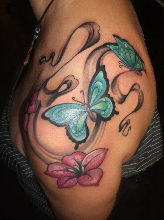 Butterfly tattoo designs mystical turquoise butterflies