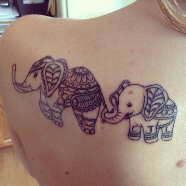 C455e611a1a924d2fa97ac7b3c944124  mother son tattoos mother daughter tattoos elephant