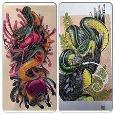 C4c32d6459628f96eb51b28cfcb68457  neo traditional snake tattoo neo japanese tattoo