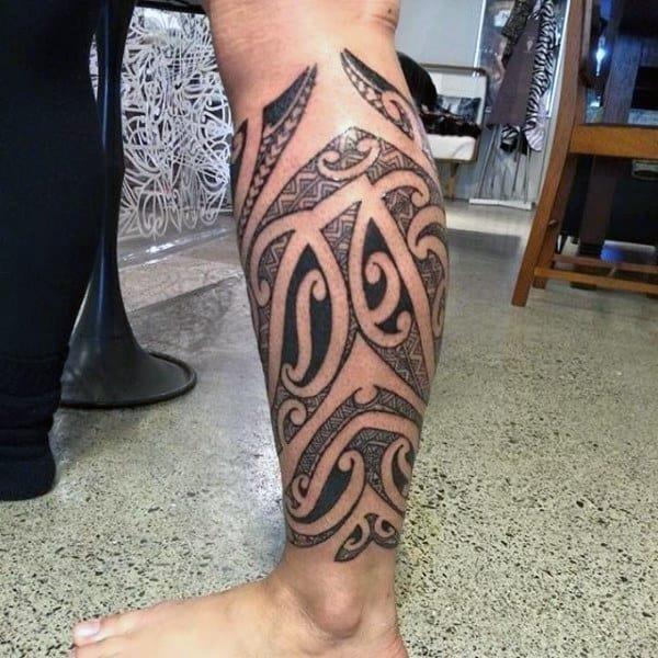 Calf tattoo ideas for men