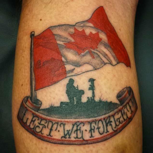 Canadian flag tattoo 1