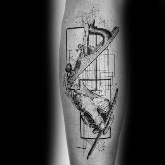 Carpenter tattoo designs on men