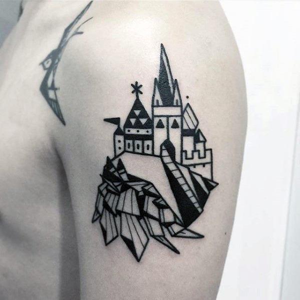 Castle simple arm mens tattoos