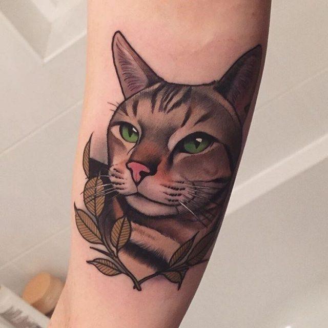 Cat tattoo 231