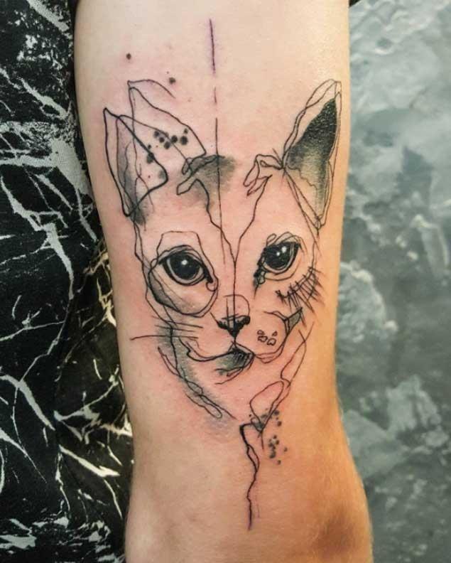 Cat tattoo 323