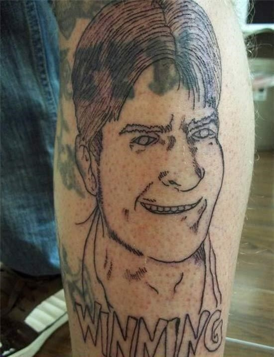 Charlie sheen winning funny ugliest worst bad tattoos