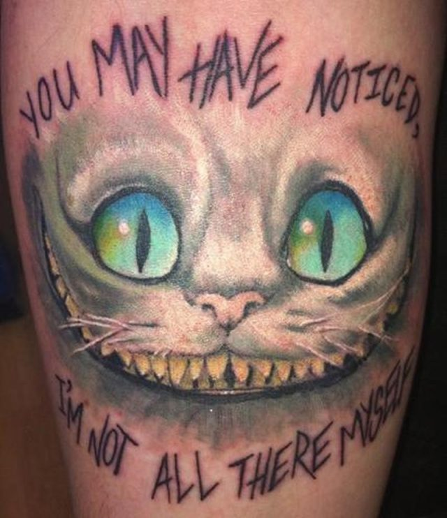 Cheshire cat tattoo 1