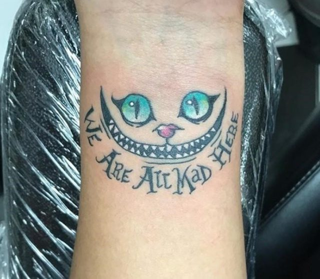 Cheshire cat tattoo 13