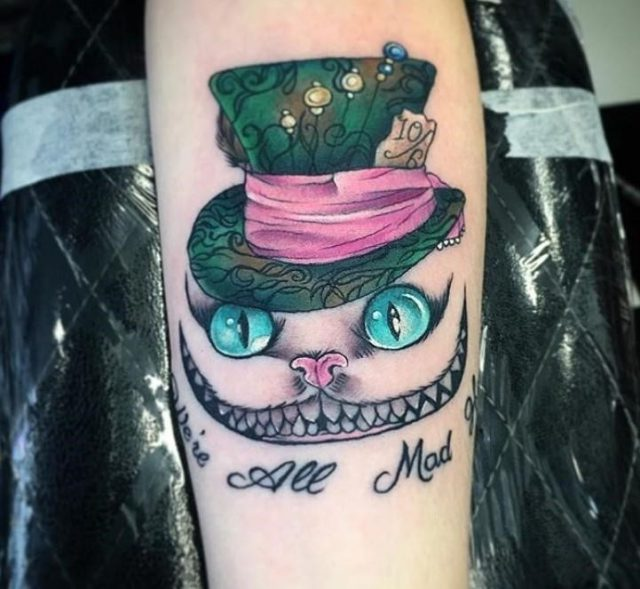 Cheshire cat tattoo 3