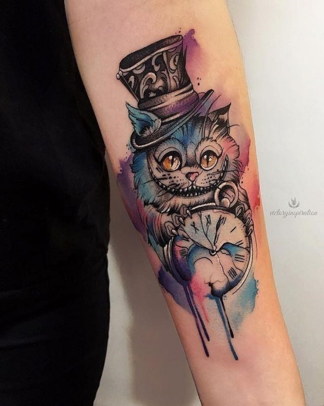 Cheshire cat tattoo ideas pictures 6