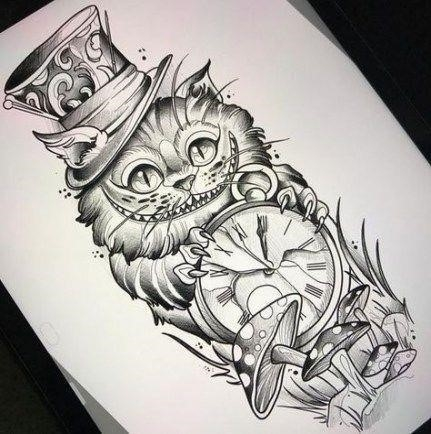 Cheshire cat tattoo ideas pictures 9
