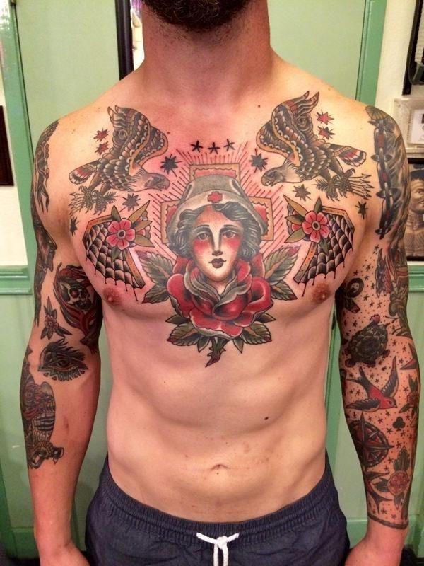 Chest tattoo 090718123
